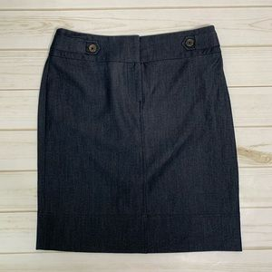 Blue pencil skirt denim lookalike skirt Sharagano